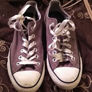 Shoes - 8 womens gray Converse All Stars